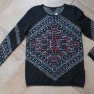 NWT J CREW Printed 100% Wool Olive Crew-neck Sweater XS