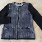 TALBOTS Zip Front 100% Merino Wool Cardigan Sweater SP