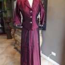 NWT JS COLLECTIONS Taffeta Evening Blazer And Maxi Hostess Skirt Suit 6P