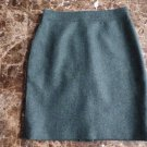 NWOT J CREW Forest Green Tweed Wool Blend  Pencil Skirt 4