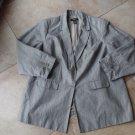 LANE BRYANT Gray Linen Blend Classic Blazer Jacket 26