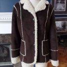 NWT Marvin Richards Brown Faux Sheep Skin Jacket Coat L