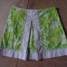 LILLY PULITZER Green Floral Print Mini Skirt Skort Short 6