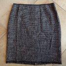 ELIE TAHARI Tweed Wool Blend Pencil Skirt 12