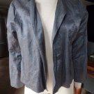 EILEEN FISHER Slate Blue Cropped Satan Jacket Blazer L