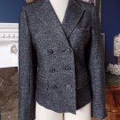 J CREW Gray  Double Breasted Felted Classic Blazer 12