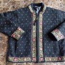 ICELANDIC Black Zip Front Lined Wool Blend Cardigan Sweater L