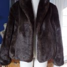 NWOT MOSSIMO Brown Mink Faux Fur Jacket Coat XL