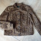LRL RALPH LAUREN JEANS Animal Printed Denim Jacket M