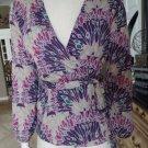 NWT BANANA REPUBLIC Pinted Wrap Top Shirt Blouse XS