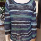 BCBG MAX AZRIA Drielle Striped Thin Knit Sweater L