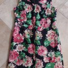 TALBOTS Floral Cotton Twill Sleeveless Sheath Dress 14