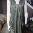NWT $325 MILLY Drape Front Putty Silk Blend Weekend Shift  Dress 6