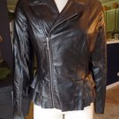 Marc Bouwer Black  Faux Leather Peplum  Zip Front  Moto Jacket 2