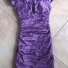 BCBG MAX AZRIA Off the shoulder Metallic Viole Taffeta Dress Cocktail  2