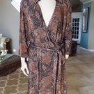 STUDIO 1940 Animal Snake Print Faux Wrap Stretch Sheath Dress 24W