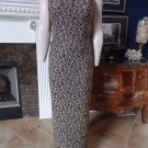 ADRIANNA PAPELL Gold  Beaded Embroidered Spaghetti Straps Evening Gown Dress 8