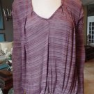 Anthropologie Ella Moss Long Sleeve Striped Jersey Knit Top Shirt Blouse M