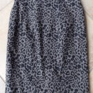 ANN TAYLOR Animal Print Cotton Blend Stratght Pencil Skirt 00P