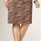 $119 TALBOTS Leopard Velvet Pencil Skirt 18WP