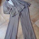 White House Black Market  Brown Blazer & Modern Boot Pant Suit 14