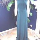 NWT Jill Stuart Teal Green Sheer Back Sleeveless Long Evening Gown Dress 14