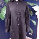 Lafayette Black Button Front Cotton Blend Long Sleeve Tunic shirt Dress 6