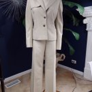 ANN TAYLOR Khaki Safari Jacket & Pant Suit 10