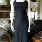 BETSEY JOHNSON Black Beaded Spaghetti Straps Evening Gown Dress S Midi