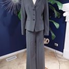 Ann Taylor Gray Classic Wool Blend Jacket & Pant Suit 10