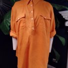 RALPH LAUREN Orange 100% Linen Button Front Tunic Top Shirt Blouse 2X