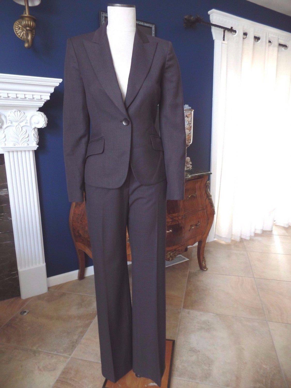 ANNE KLEIN Dark Brown Classic Blazer & Pant Suit 2