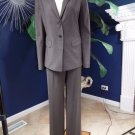 Ann Taylor Brown Wool Blend Classic Jacket & Pant Suit 10