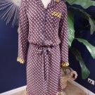 NWT Clover Canyon Button Front Dot Midi Length Shirt Sheath Dress XS