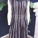 MARC BY MARC JACOBS Navy Embroidered  Fit & Flare Sheath  Dress M