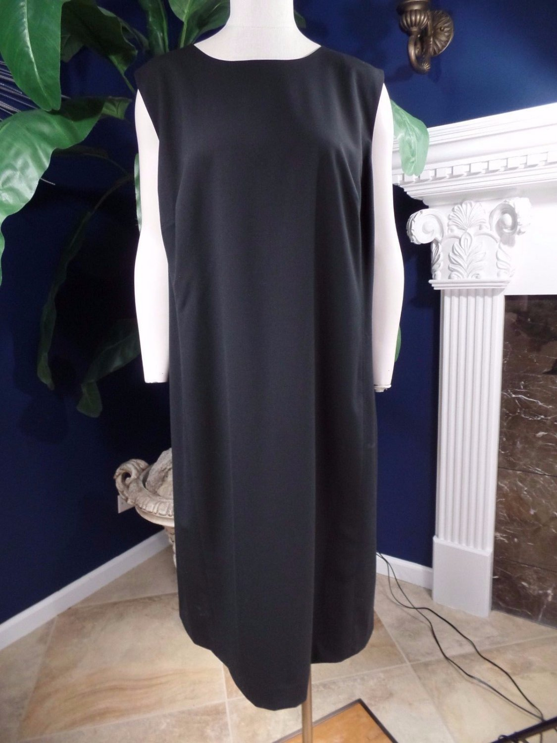 NWT JONES NEW YORK Black Sleeveless  Sheath Dress 20W