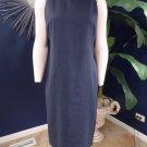 RALPH LAUREN Navy 100% Linen Sleeveless Midi Length Sheath Dress 6