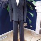 ANN TAYLOR Black Wool Blend Classic Jacket & Pant Suit 10