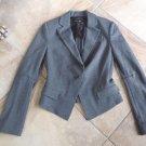 BCBG MAX AZRIA Heather Gray Fitted Classic Ponte Jacket Blazer XS