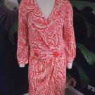 NANETTE LEPORE Printed 3/4 Sleeve Wrap Dress 2