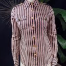 TORY BURCH Striped Cotton Long Sleeve Button Front shirt Top Blouse 4