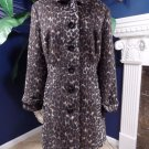 OLD NAVY Animal Print Button Front  Car 3/4 Length Coat Jacket XL