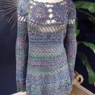 FREE PEOPLE Blue Loose Knit Long Sleeve Tunic Sweater M