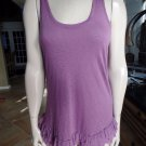 7 FOR ALL MANKIND Purple Sleeveless T Back Tank Tunic Top Shirt Blouse S