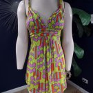 NWOT T Bags Printed Jersey Empire Waist tunic Tank Top Shirt S