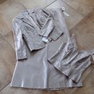 NWT GILAR Embroidered Silk  3 Pc Set Grown Evening Suit Skirt & Cami  & Jacket 6