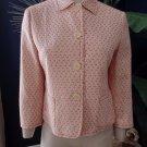 WEEKEND MAX MARA Embroidered Pink/ivory 3/4 Sleeve Blazer jacket US 8