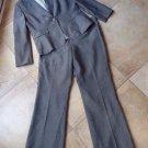 TAHARI Gray Classic Blazer And Pant Suit 14