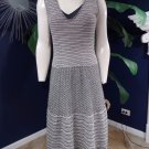 Anthropologie Knitted & Knotted Zig Zag Striped Sleeveless Sweater Dress M