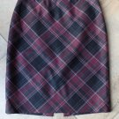 WHITE HOUSE BLACK MARKET Plaid Straight Pencil Skirt 2